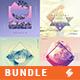 Electronic Music Album Cover Artwork Templates Bundle 29