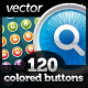 120 Just Colored Buttons - GraphicRiver Item for Sale