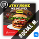 Fast Food Burger Social Media Templates