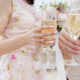 wedding couple holding glass champagne - PhotoDune Item for Sale