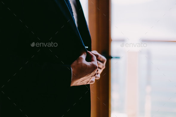 man getting dressed - Stock Photo - Images