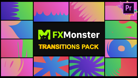 Colorful Transitions | Premiere Pro MOGRT