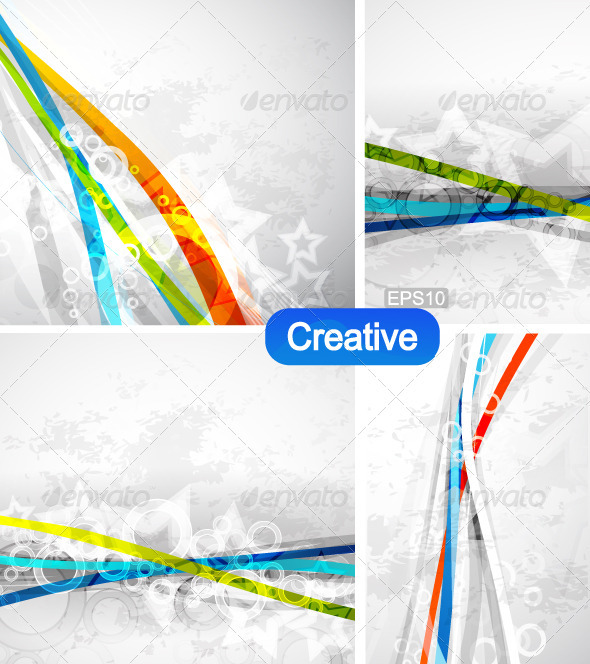Vector Waves Grunge Backgrounds - Backgrounds Decorative