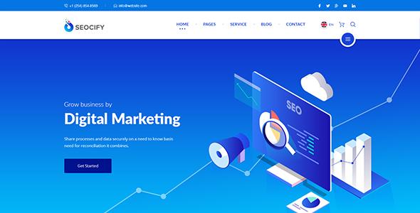 Seocify WordPress theme for digital agencies