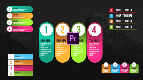Infographic Unique Lists-Premiere Pro