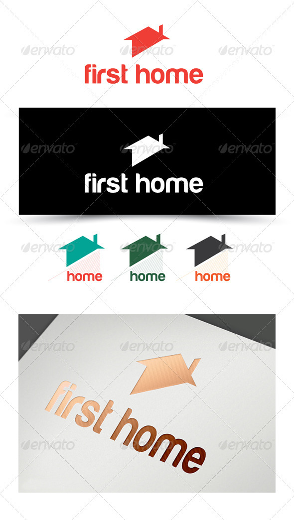 FIRST home - Buildings Logo Templates