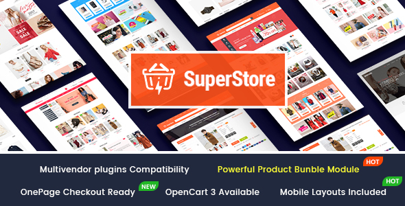SuperStore - Responsive Multipurpose OpenCart 3 Theme with 3 Mobile Layouts Included