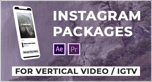 Instagram Packages | After Effects, Premiere Pro, FCPX