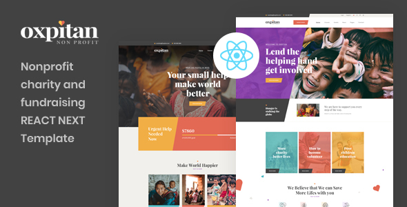 Special Oxpitan - React Next Nonprofit Charity and Fundraising Template