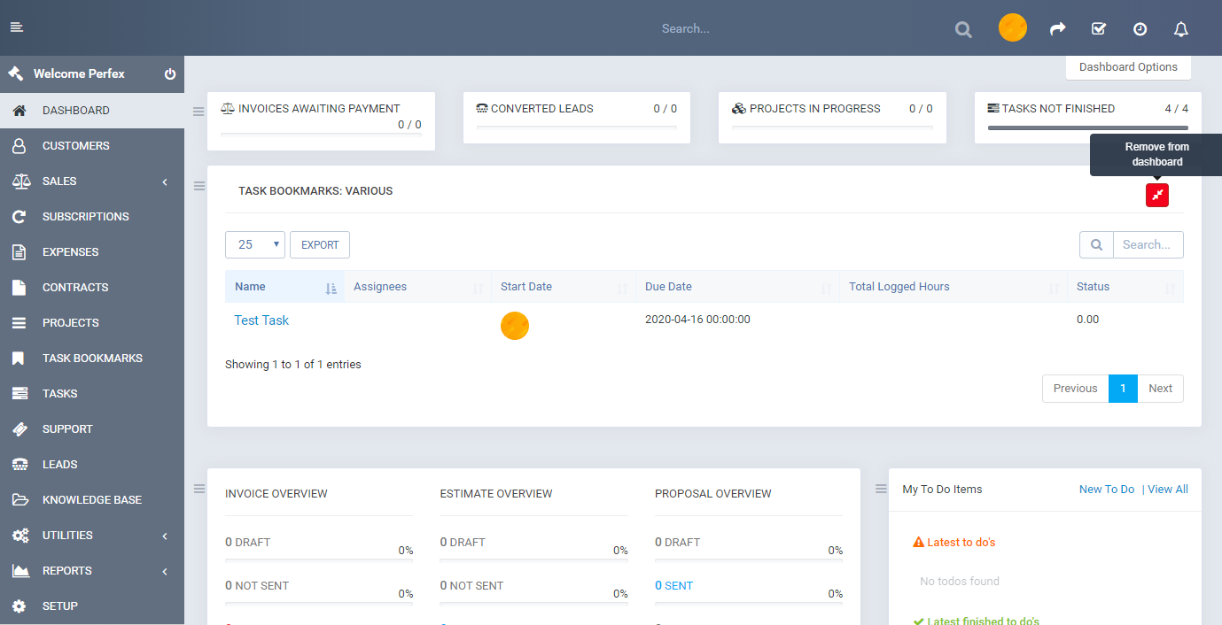 Tasks Bookmark module for Perfex CRM - 5
