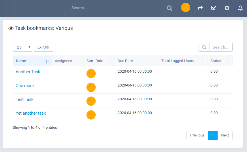 Tasks Bookmark module for Perfex CRM - 6