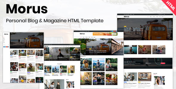 Top Morus - Personal Blog & Magazine HTML Template