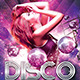 Disco Galaxy Electro Party Flayer - GraphicRiver Item for Sale