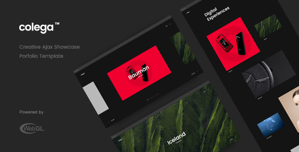 Colega - Creative Ajax Portfolio Showcase Slider Template