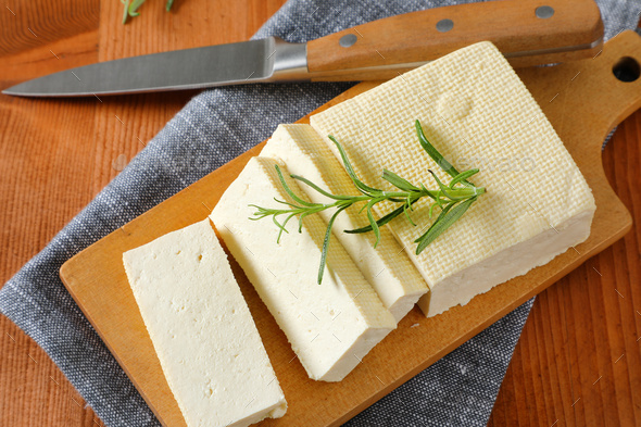 Fresh firm bean curd (tofu) - Stock Photo - Images