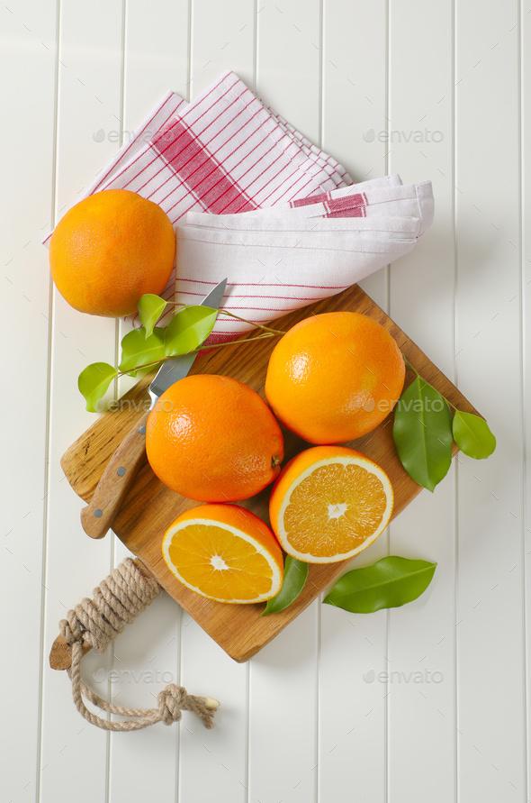 Fresh ripe oranges - Stock Photo - Images