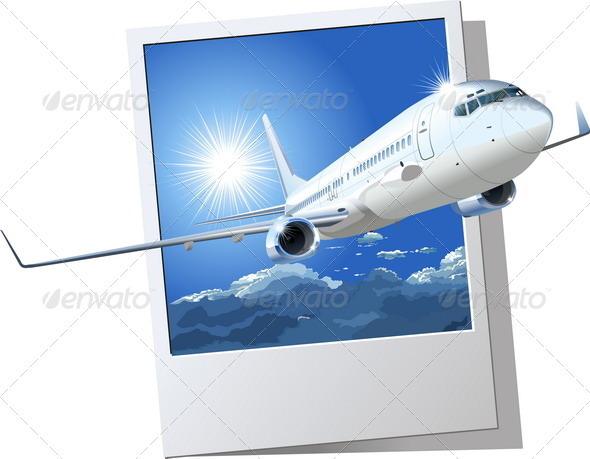 Passenger Boeing 737 - Travel Conceptual