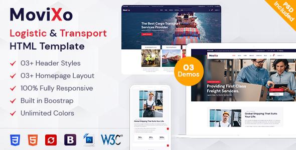 Fabulous Movixo – Logistics & Transportation HTML5 Template