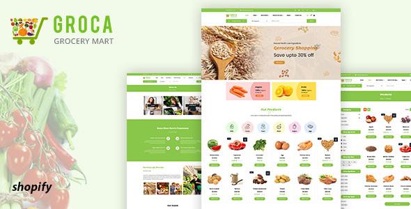 Groca - Grocery, Supermarket Shopify Theme