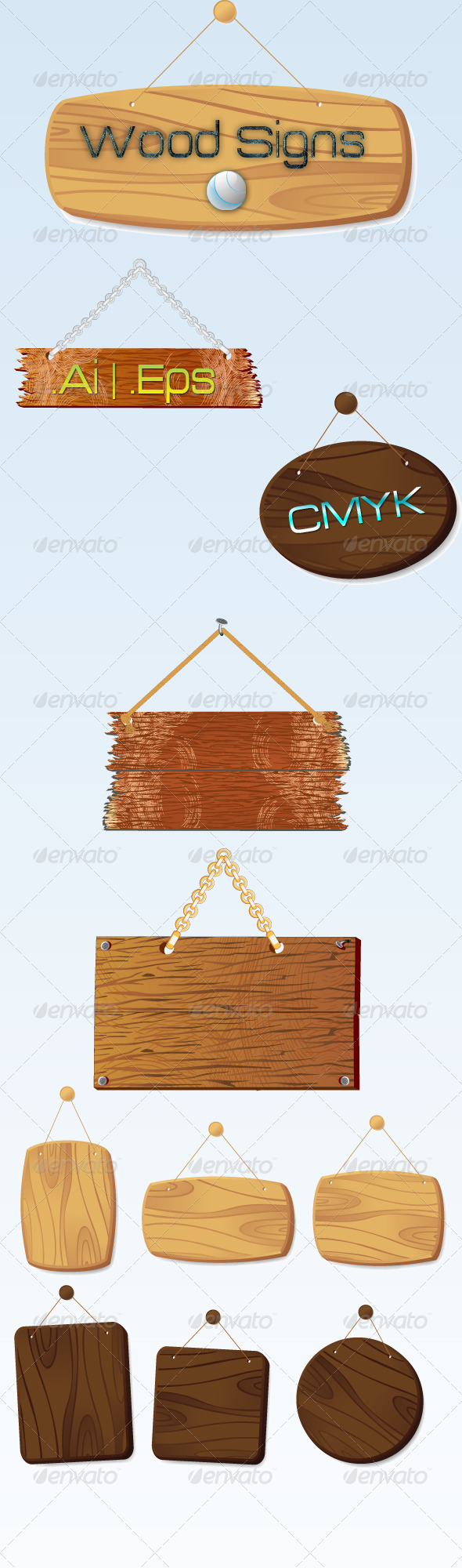 Wood Signs - Objects Vectors