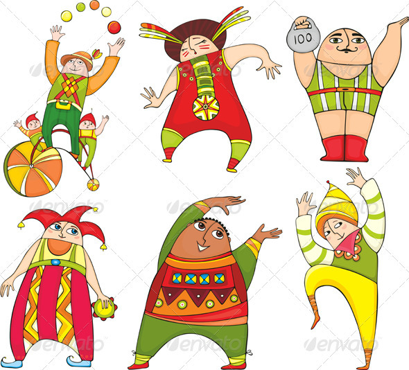 Circus Actor Set - People Characters