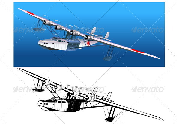 Retro Seaplane 30-s - Man-made Objects Objects
