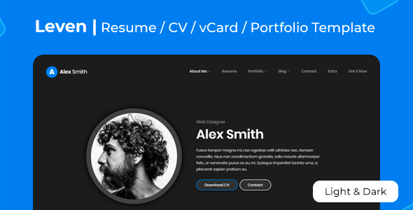 Exceptional Leven | CV Resume Template