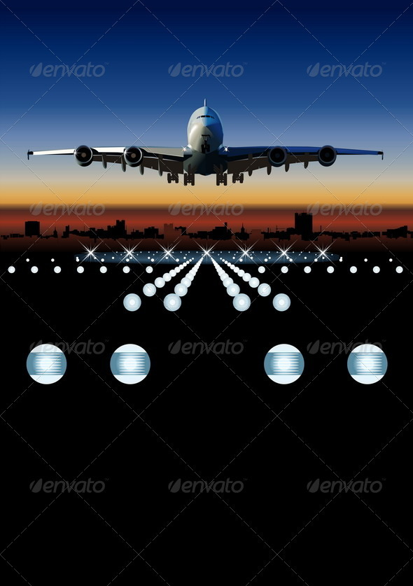Airbus at Sunrise - Travel Conceptual