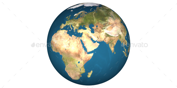 earth planet globe white background - Stock Photo - Images