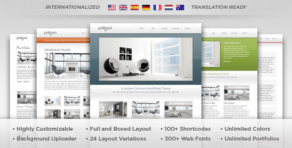 Polyon – Futuristic WordPress Theme