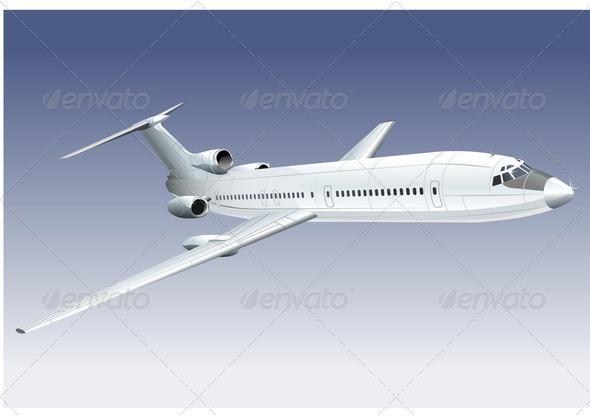 Passenger Jet - Travel Conceptual