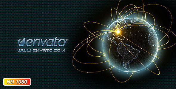 Network globe logo opener by kurbatov videohive play preview video sciox Gallery