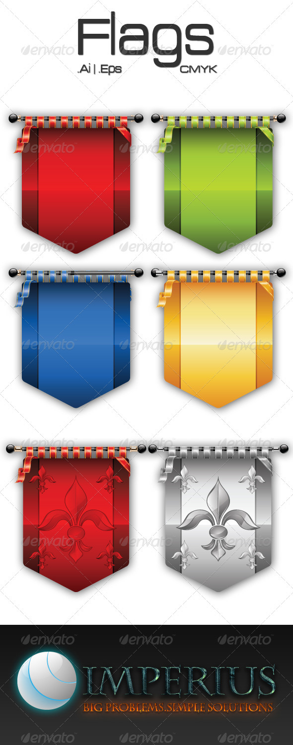 Flags - Decorative Vectors