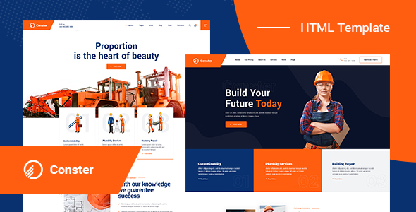 Conster - Construction HTML5 Template