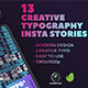 13 Creative Typography Instagram Stories - VideoHive Item for Sale