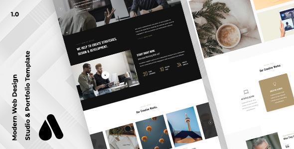 Aron - Creative Studio & Portfolio Template