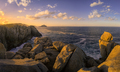 Sea Cliffs Gilted by the Light of the Setting Sun - PhotoDune Item for Sale