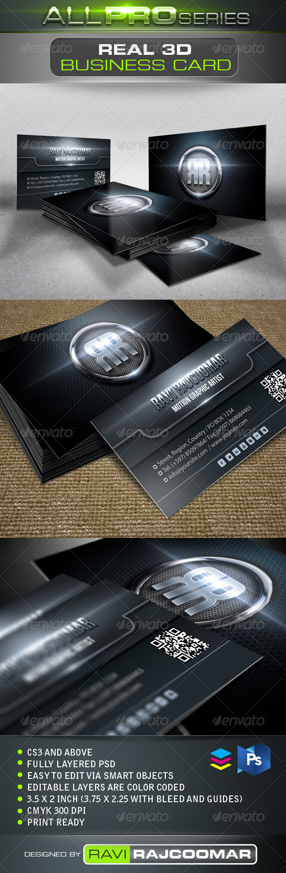 Real 3D Business Card - Creative Business Cards