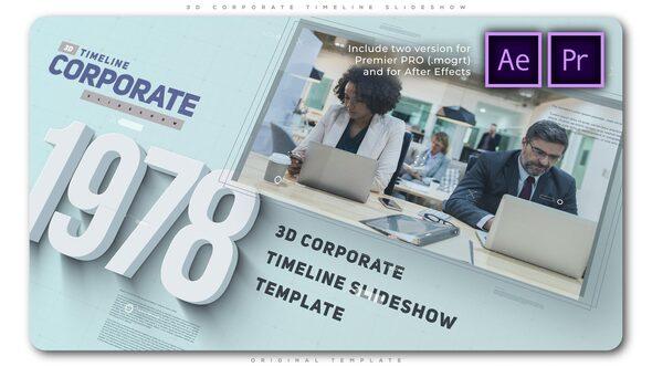 3D Corporate Timeline Slideshow