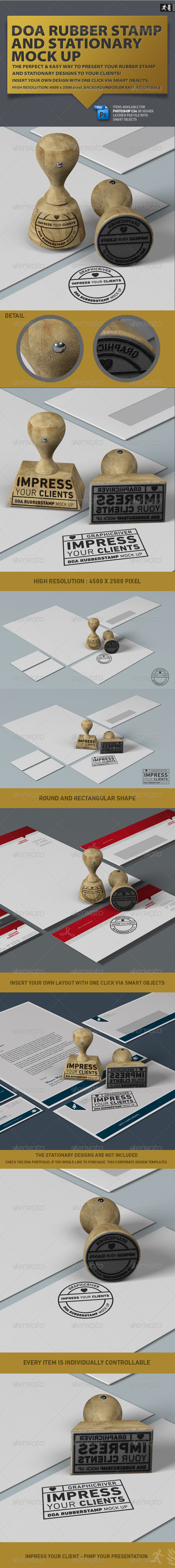 DOA Rubber Stamp and Stationary Mock Up - Stationery Print