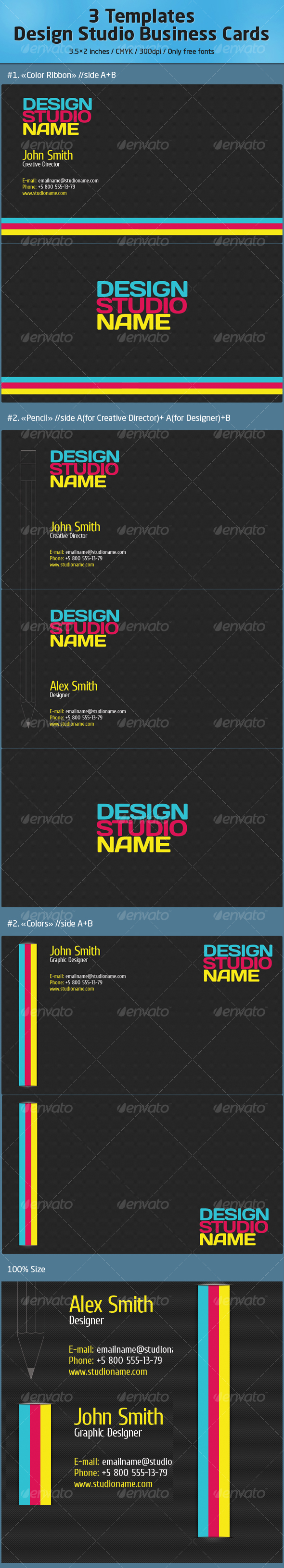 Design Studio Business Cards //Carbon - Corporate Business Cards