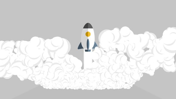 Quick Start Up Rocket Logo