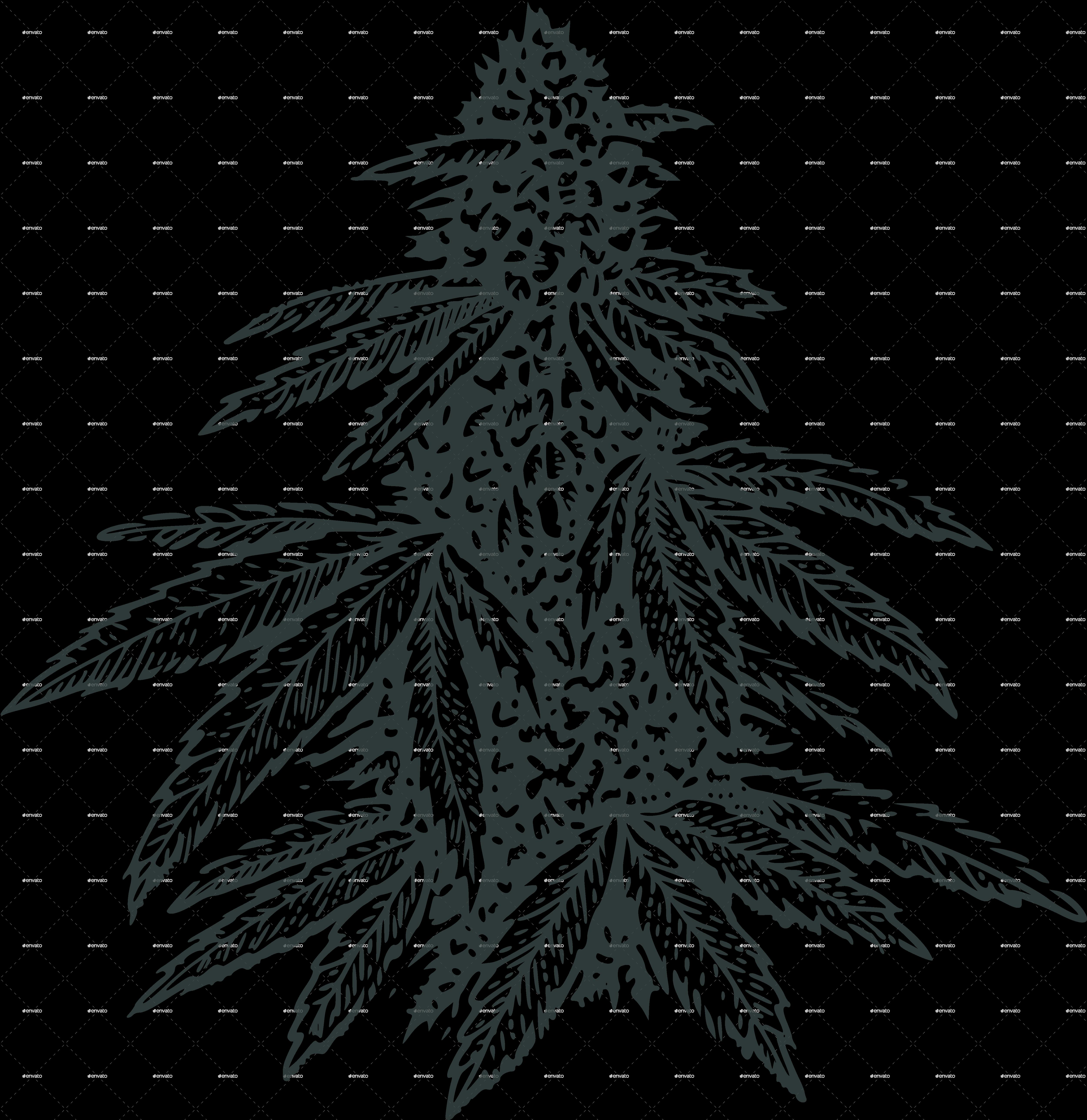 Marijuana Bud By Roktiv Graphicriver