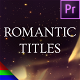 Golden Romantic Titles - Premiere Pro | Mogrt