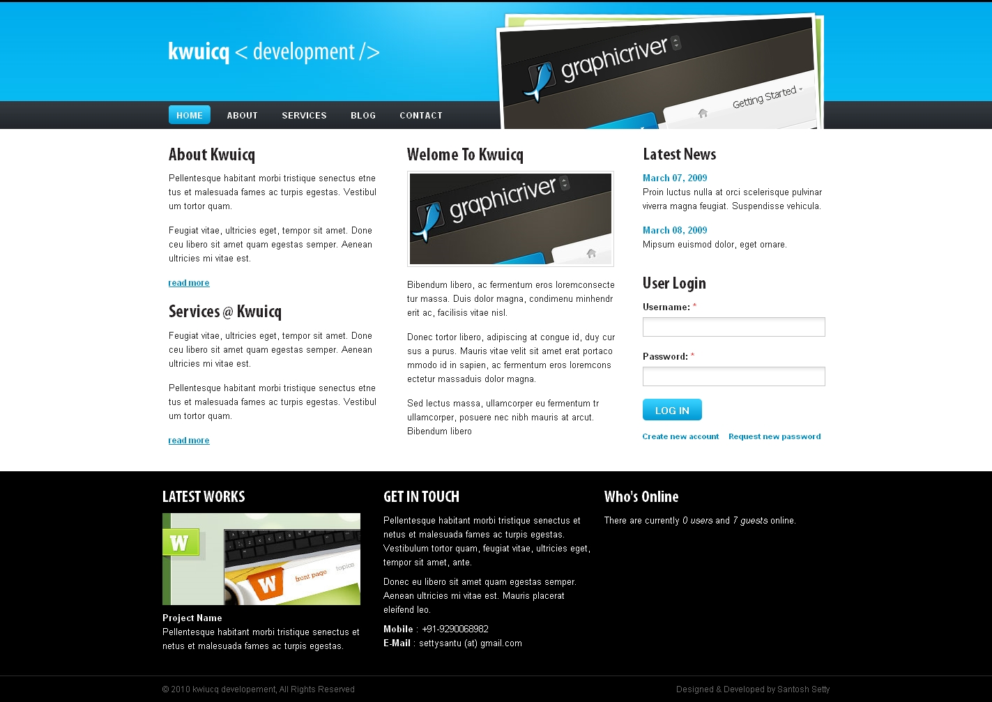 Free Download Kwuicq Drupal 6 Corporate Blue Theme Nulled Latest Version