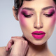 Beautiful fashion woman with  a purple lipstick on her lips. - PhotoDune Item for Sale