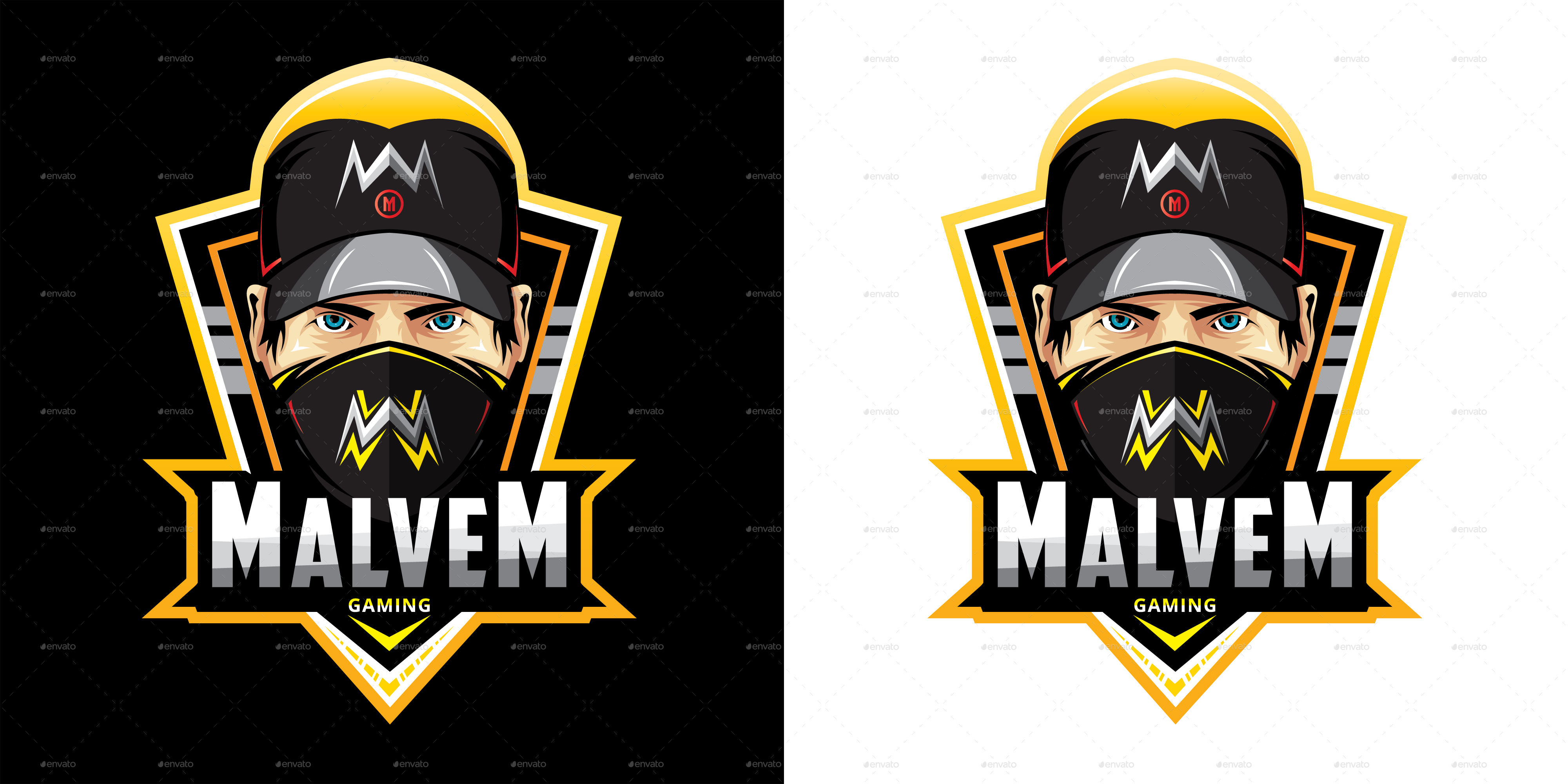 Head Mascot Logo For Gaming by modaldesain | GraphicRiver