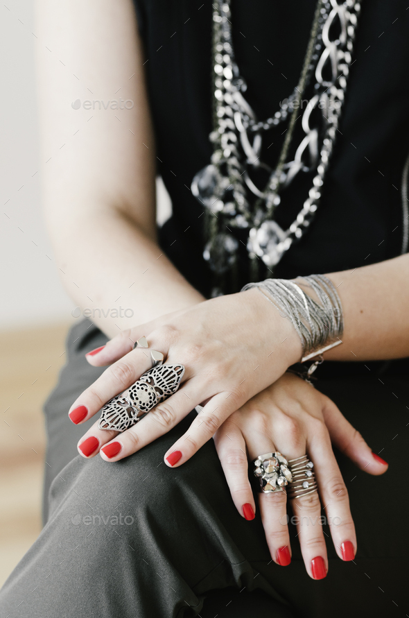 Female hands with jewelry - Stock Photo - Images