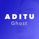 Aditu – Stylish Dark Theme for Ghost