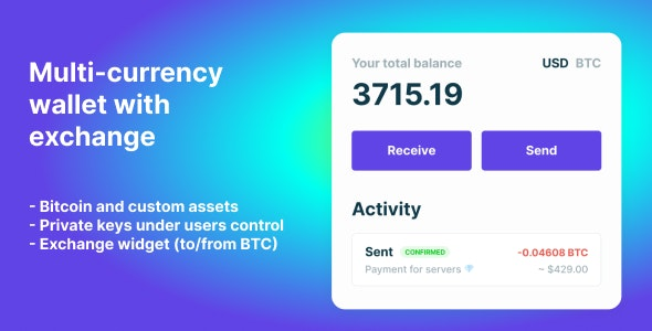 Download Bitcoin, Ethereum, ERC20 crypto wallets with exchange Free Nulled